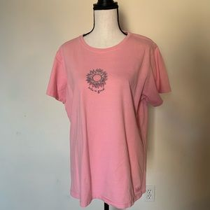 Life is Good Pink Short Sleeve T-shirt